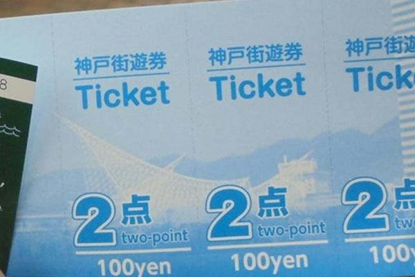 「神戸街めぐり1dayクーポン」は「神戸街遊券」という金券付き