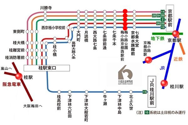 京阪バス「京都鉄道博物館セット乗車券」の有効区間