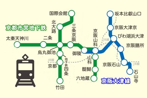 京都~大津が乗り放題の1日乗車券「京都・びわ湖チケット」の有効区間
