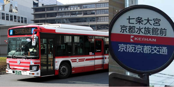 京都水族館へのアクセス、バス代無料!