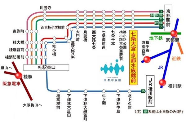 「京都水族館セット乗車券」でバス代実質無料