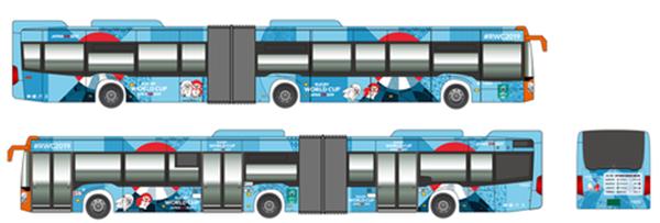 神戸三宮~ハーバーランド巡回バスの試験運行(2019年)