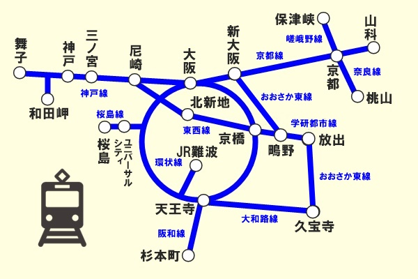 JR三都物語周遊乗車券(乗り放題範囲)