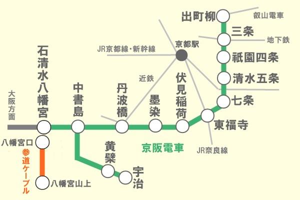 京阪電車「京都1日観光チケット」有効区間