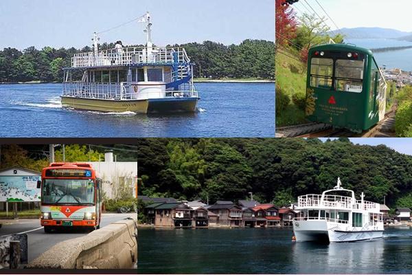 丹鉄「海の京都、天橋立・伊根ブリ―パス」はバス、遊覧船、ケーブルも乗り放題