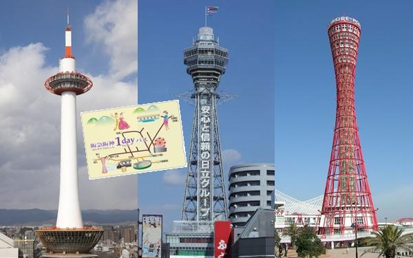 京都~大阪~神戸の乗り放題切符は「阪急阪神1dayパス」