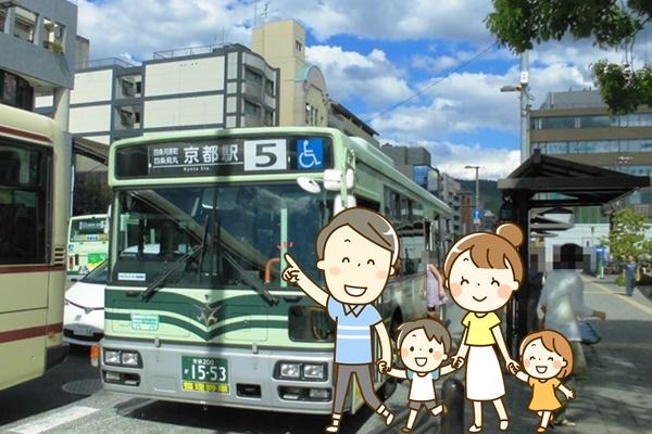 京都市内のバスが乗り放題「バス一日券」の内容、値段、購入方法