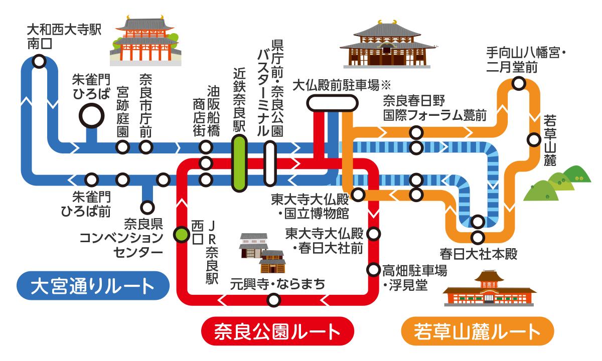 奈良交通「ぐるっとバス」1日乗り放題「木簡型1日乗車券」の内容、値段、発売期間、購入方法