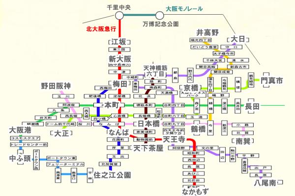 「1970年大阪万博50周年記念乗車券」の有効区間(乗り放題範囲)