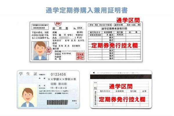 通学定期券購入兼用証明書