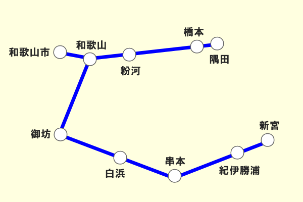JR西日本「地域共通クーポン限定自由周遊きっぷ」和歌山版の乗り放題範囲